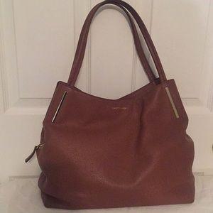 Vince Camuto Brown Leather Hobo Handbag